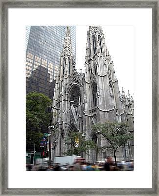 St Patrick's Cathedral - Manhattan Framed Print by Frank Mari