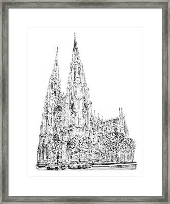 St Patricks Cathedral Framed Print by Anthony Butera