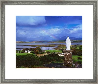 St Patricks Statue, Co Mayo, Ireland Framed Print by The Irish Image Collection