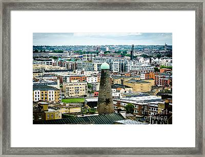 St Patricks Tower From Guinness Brewery In Dublin Framed Print by RicardMN Photography