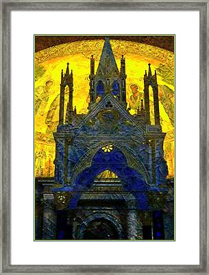 St. Pauls Basilica In Rome Framed Print by Mindy Newman