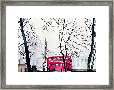 St Pauls Cathedral In The Mist  Framed Print by Morgan Fitzsimons