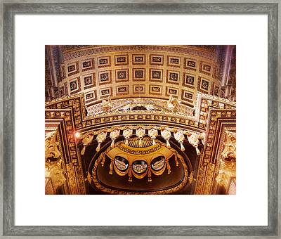 St. Pauls Cathedral London Framed Print by Heidi Hermes