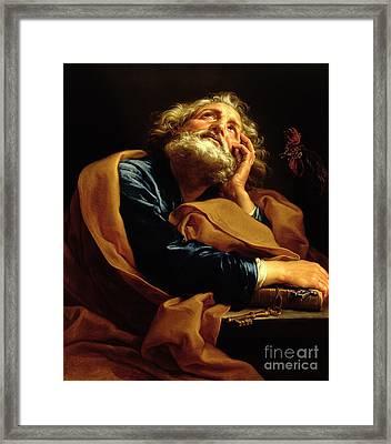 St Peter Framed Print by Pompeo Girolamo Batoni