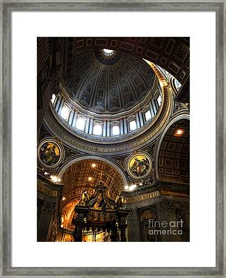 St Peter's Basilia Framed Print by HD Connelly