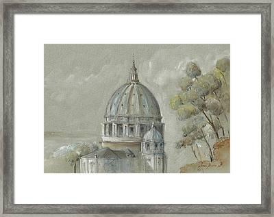 St Peter's Basilica Rome Framed Print by Juan Bosco