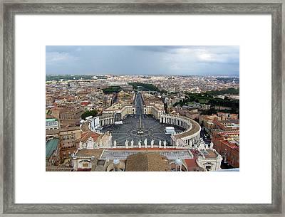 St. Peter's Square Framed Print by Sierra Vance