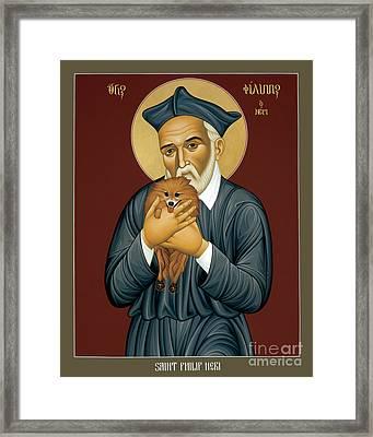 St. Philip Neri - Rlpln Framed Print by Br Robert Lentz OFM