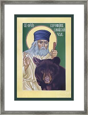 St. Seraphim Of Sarov - Rlses Framed Print by Br Robert Lentz OFM