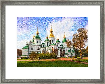 St Sophias Cathedral Framed Print by Graham Prentice