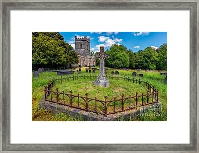 St Tegai Cross Framed Print by Adrian Evans