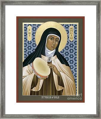 St. Teresa Of Avila - Rltoa Framed Print by Br Robert Lentz OFM