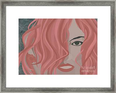 St. Therese Give Me A Flower Framed Print by Kenn Ashe
