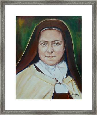 St. Therese Of Lisieux II Framed Print by Sheila Diemert