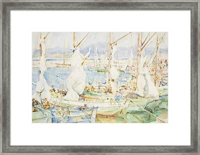 St Tropez Framed Print by Henry Scott Tuke