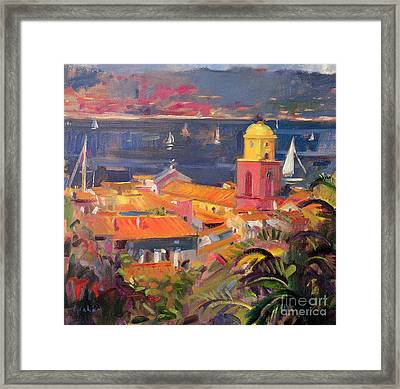 St Tropez Sailing Framed Print by Peter Graham