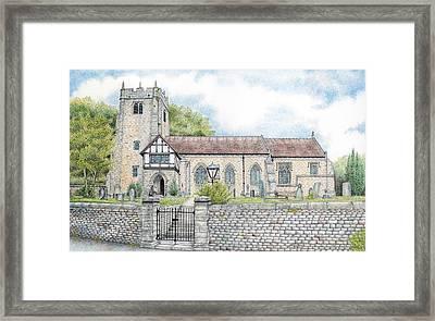 St Wilfrids Church Halton Lancashire Framed Print by Sandra Moore