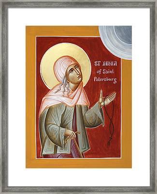 St Xenia Of St Petersburg Framed Print by Julia Bridget Hayes