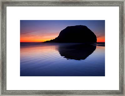 Stack Reflections Framed Print by Mike  Dawson