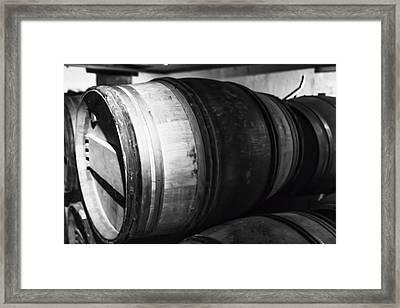 Stacked Barrels Framed Print by Georgia Fowler