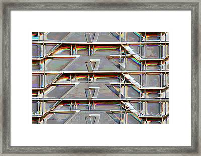Stacked Storage Crates Abstract Framed Print by Kae Cheatham
