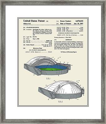 Stadium Patent Framed Print by Finlay McNevin