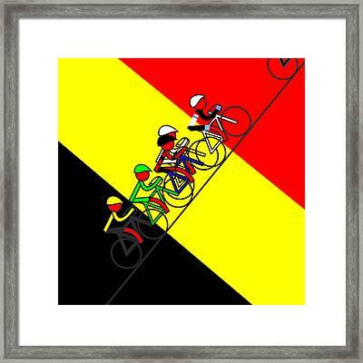 Stage 14 Surprise Surprise Belgium Winner Framed Print by Asbjorn Lonvig