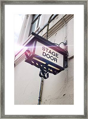 Stage Door Sign Framed Print by Tom Gowanlock