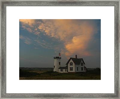 Stage Harbor Lighthouse Framed Print by Juergen Roth