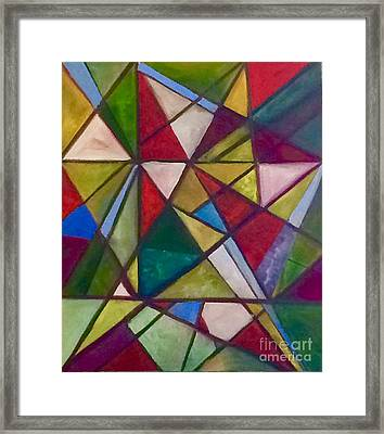 Stained Glass 1 Framed Print by Tina Swindell