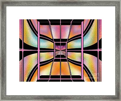 Stained Glass 7 Framed Print by Cheryl Young
