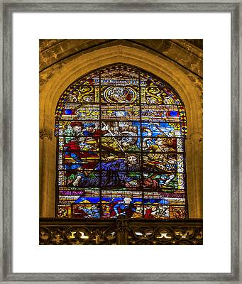 Stained Glass - Cathedral Of Seville - Seville Spain Framed Print by Jon Berghoff