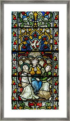 Stained Glass In Christ Chuch Cathedral Dublin Framed Print by RicardMN Photography