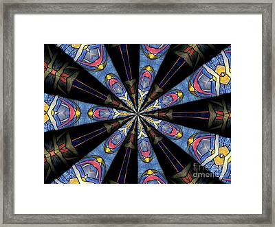 Stained Glass Kaleidoscope 28 Framed Print by Rose Santuci-Sofranko