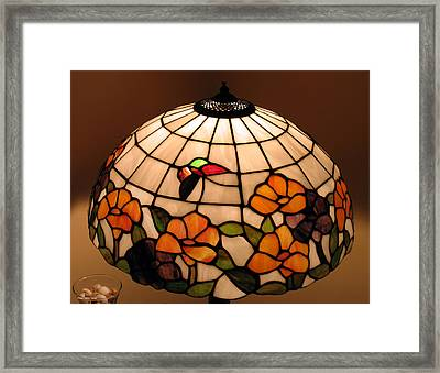 Stained-glass Lampshade Framed Print by Suhas Tavkar