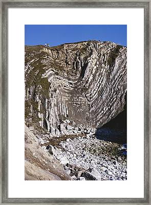 Stair Hole, Dorset, England Framed Print by G. R. Roberts