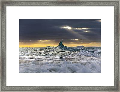 Stair-wave To Heaven Framed Print by Sean Davey