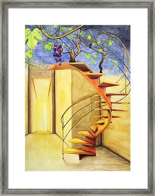 Staircase Framed Print by Genevieve Gislason