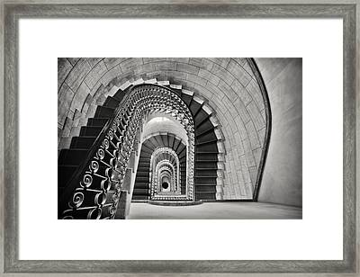 Staircase Perspective Framed Print by George Oze