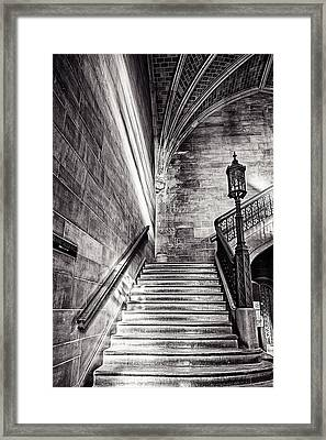 Stairs Of The Past Framed Print by CJ Schmit