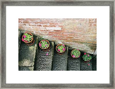 Stairs To A Flat Framed Print by Lauri Novak