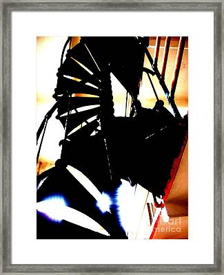 Stairs To Freedom Framed Print by Mike Grubb