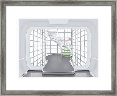 Stairs_1_kinemathek Framed Print by Herbert A. Franke
