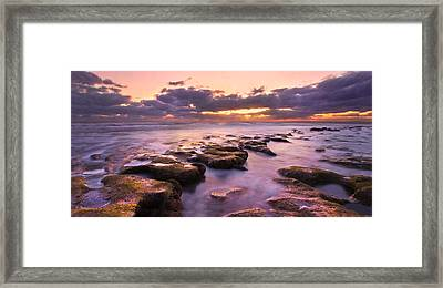 Stairway To Heaven Panorama Framed Print by Debra and Dave Vanderlaan