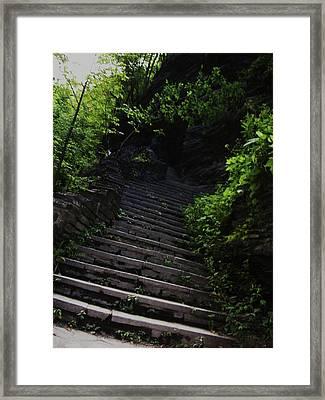 Stairway To Watkins 2 Framed Print by InTheSane DotCom