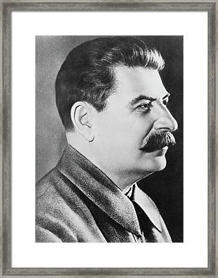 Stalin Framed Print by Russian School