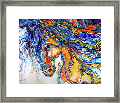 Stallion Southwest By M Baldwin Framed Print by Marcia Baldwin