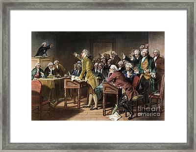 Stamp Act: Patrick Henry Framed Print by Granger