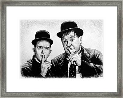 Stan And Ollie Framed Print by Andrew Read
