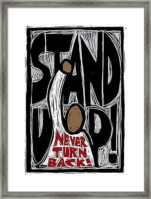 Stand Up Framed Print by Ricardo Levins Morales